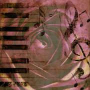 Purple Nature Art Art - Natures Music by Cathie Tyler