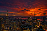 Manhattan Sunset Posters - Natures Palette Poster by Neil Shapiro