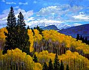 Featured Painting Metal Prints - Natures Patterns - Rocky Mountains Metal Print by John Lautermilch
