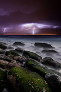 Lightning Prints - Natures splendor Print by Jorge Maia