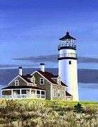 Cape Cod Paintings - Nauset Light by Paul Gardner