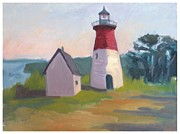 Nauset Lighthouse Cape Cod Print by Suzanne Elliott