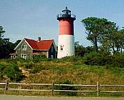 Lighthouse Photographs By Frederic Kohli - Nauset Lighthouse by Frederic Kohli