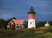Cape Cod Paintings - Nauset Lighthouse by John Small