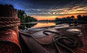 Canal Photo Prints - Nautical Sunrise Print by Everet Regal