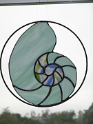 Sea Glass Art Originals - Nautilus Shell by Shelly Reid
