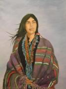 Indian Maiden Paintings - Navaho Maiden by G Kay Cummings