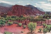 Corral Framed Prints - Navajo Corral Framed Print by Donald Maier