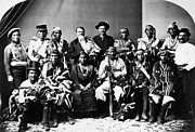 Western Kentucky Prints - NAVAJO DELEGATION, c1874 Print by Granger