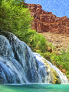 Colorado River Paintings - Navajo Falls by Dominic Piperata