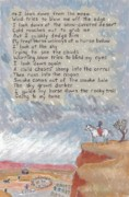 Tribe Drawings Prints - Navajo Poem and Drawing from Childhood Print by Dawn Senior-Trask