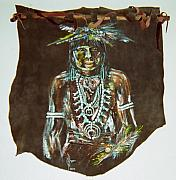 Indian Tapestries - Textiles - Navajo Snake Priest by Lulu Brymer