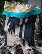 Pattern Tapestries - Textiles Originals - NAVAJO Turquoise   NOMADIC BAG by Krisha Fairchild