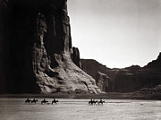 Edward Curtis Framed Prints - Navajos: Canyon De Chelly, 1904 Framed Print by Granger