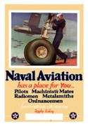 World War I Posters - Naval Aviation Has A Place For You Poster by War Is Hell Store