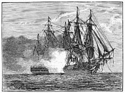 Boston Light Prints - Naval Battle, 1813 Print by Granger