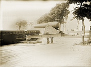 Early Photography Originals - Naval Cannon New Haven by Jan Faul