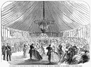 Ball Gown Metal Prints - Naval Festival, 1865 Metal Print by Granger