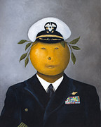 Government Painting Posters - Naval Officer Poster by Leah Saulnier The Painting Maniac