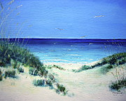Sand Dunes Paintings - Navarre Sandunes1 by Tracy Crosby