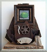 Rusty Sculpture Framed Prints - Navigate South Framed Print by Snake Jagger