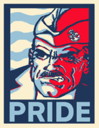 Boot Camp Digital Art Posters - Navy Chief Pride Poster by Suzanne  Frie