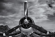 Navy Corsair Propeller Print by Roger Wedegis