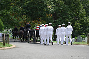 Arlington Virginia Digital Art Prints - Navy Funeral at Arlington Print by Gordon Mooneyhan
