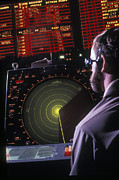 Air Traffic Control Prints - Navy Petty Officer Students Practice Print by Michael Wood