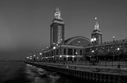Sky Line Art - Navy Pier in Chicago by Twenty Two North Gallery