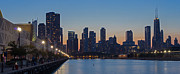Sky Line Art - Navy Pier in Evening by Twenty Two North Gallery