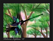 Hummingbird Art - Nazca Hummingbird by Rebecca  Stephens