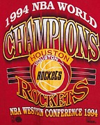 Nba Photo Posters - NBA 1994 World Champions Rockets Poster by De Beall
