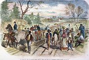 Abolition Framed Prints - Nc: Freed Slaves, 1863 Framed Print by Granger