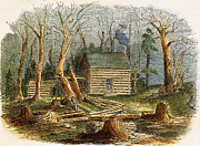 Log Cabin Prints - N.c.: Log Cabin, 1857 Print by Granger