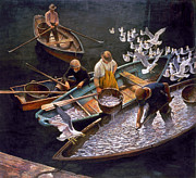 Basket Prints - N.c. Wyeth: Fishermen Print by Granger