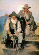 Turn Of The Century Art - N.c. Wyeth: The Pay Stage by Granger