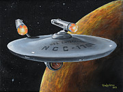 Trek Framed Prints - Ncc-1701 Framed Print by Kim Lockman
