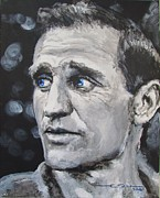 Road Drawings Posters - Neal Cassady - On The Road Poster by Eric Dee