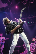 Rich Fuscia Posters - Neal Schon and Randy Jackson of Journey Poster by Rich Fuscia