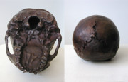 Featured Sculptures - Neanderthal Skull by John Gibbs