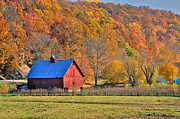 Indiana Autumn Posters - Near Bedford Indiana Poster by Marsha Williamson Mohr