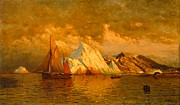 Sunset Seascape Framed Prints - Near Midnight Labrador Framed Print by William Bradford