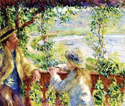 Auguste Renoir Prints - Near the Lake Print by Pg Reproductions