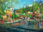 Charming Town Paintings - Near the Mate Factor on the Westside of Manitou by David V Gonzales
