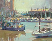 Boats In Harbor Originals - Nearly Noon by Paul Youngman