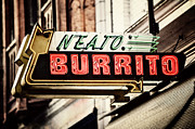 Restaurant Sign Prints - Neato Burrito Print by Lisa Russo