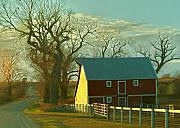 Red Barns Metal Prints - Nebraska barn Metal Print by Al  Swasey