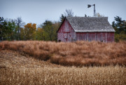 Harvest Time Posters - Nebraska Barn Poster by David Waldrop