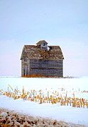 Nebraska. Posters - Nebraska Barn in Winter No.2 Poster by Christine Belt